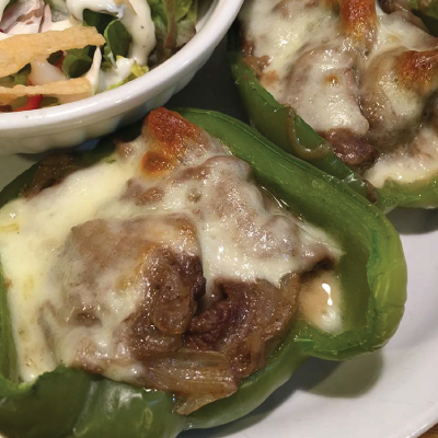 Philly Cheese Steak Stuffed Peppers